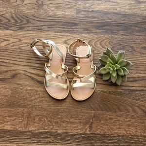 Crazy 8 | Girls Gold Sandals